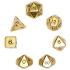 gold roleplaying dice