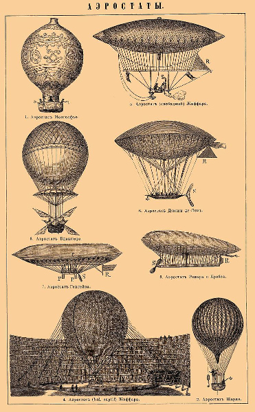 Various airships